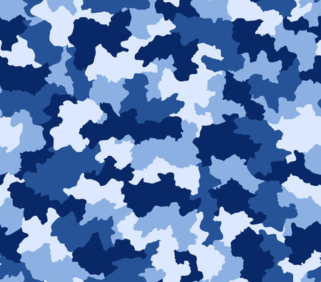 tileable: Blue camouflage pattern seamlessly tileable