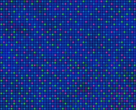 predominantly: Repeating squares pattern, predominantly blue, seamlessly tileable