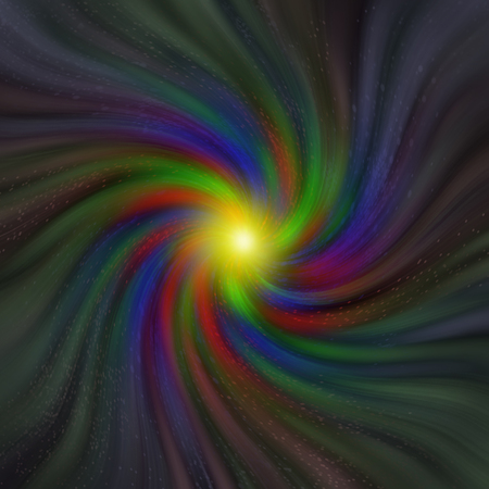 Swirling vortex of colors with varying saturation Stock Photo