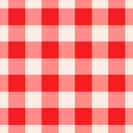 tileable: Red and white checkered gingham pattern seamlessly tileable