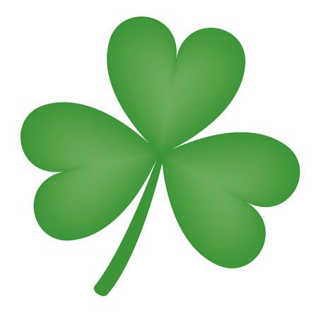 threeleaf: Illustration of a green three-leaf shamrock clover
