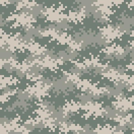 camuflaje: Patrón de camuflaje píxel gris-verde militar perfectamente enlosables