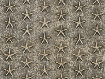 tileable: Metallic star relief pattern texture seamlessly tileable Stock Photo