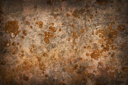 corrosion: Metallic background with rusty corrosion, darkened around the edges Stock Photo