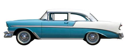 Aqua Bel-Air vintage auto geïsoleerd tegen witte achtergrond