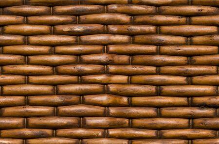 mimbre: La cesta de mimbre fondo de la superficie de textura perfectamente enlosables