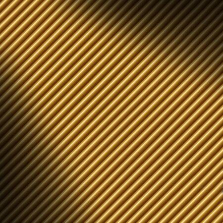 tubing: Diagonal gold tube background texture lit dramatically