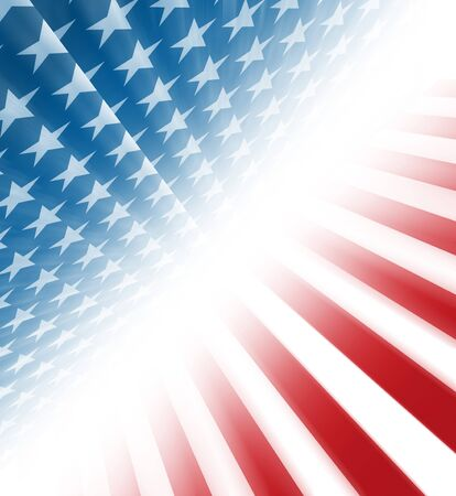 partisan: American stars and stripes coming from a perspective on a diagonal Stock Photo