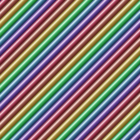 diagonal: Diagonal multicolored tube background texture seamlessly tileable