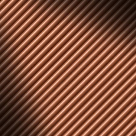 copper: Copper colored diagonal tube background texture lit diagonally