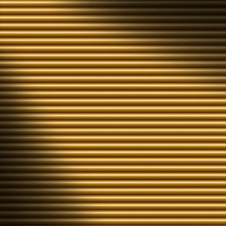 diagonally: Horizontal gold tube background texture, lit diagonally