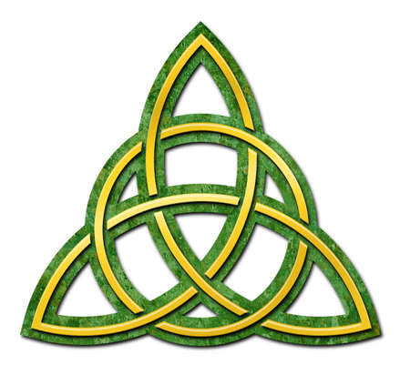 Celtic Trinity Knot isolated against a white background