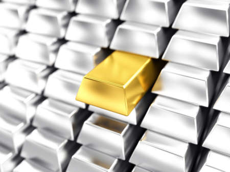 Gold bar Stock Photo - 9029776