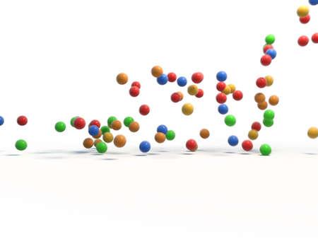 Coloured balls afoot