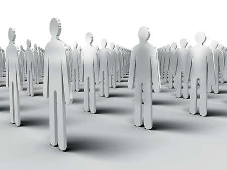 Comunidad de personas idénticas Foto de archivo - 9029668