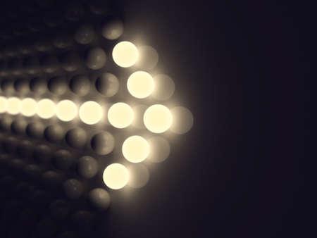 Luminescent arrow Standard-Bild