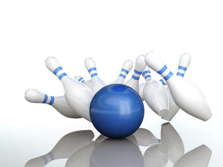 rolling pin: Bowling ball hits strike