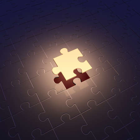 Conception of leadership. Puzzle photo