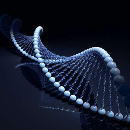 spirale dna: Filamenti di DNA Archivio Fotografico