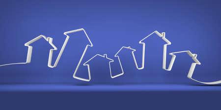Symbolic city on the blue background Фото со стока