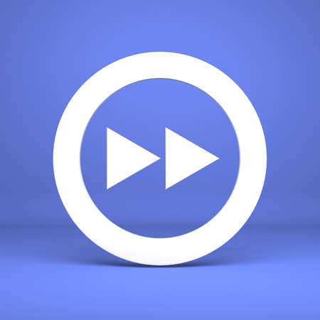 Button of forward on a blue background photo