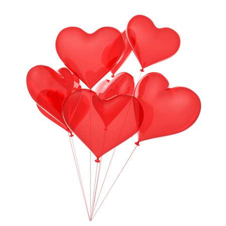 copula: Copula of balloons as red hearts