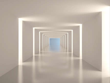 Empty corridor. Abstract interior Фото со стока