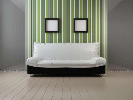 Sofa at a wall. Abstract living room Stock Photo - 9029752