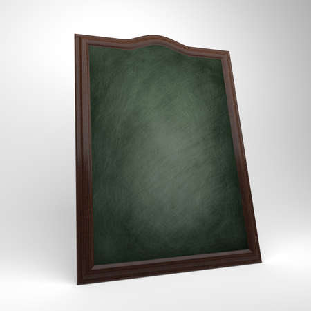 A blank green chalkboard with a wooden frame, chalk board  photo