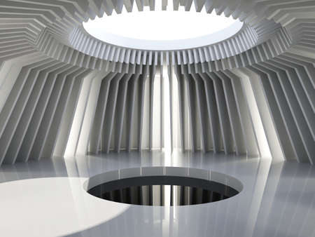 hall: Futuristic hall. Abstract architecture background Stock Photo