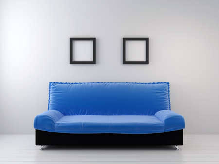 Sofa at a wall. living room photo