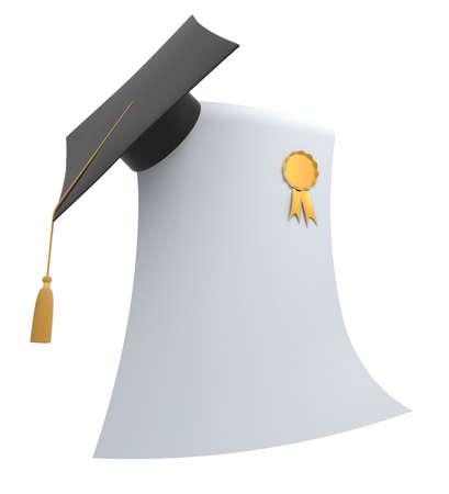 Graduation blank and grad hat photo