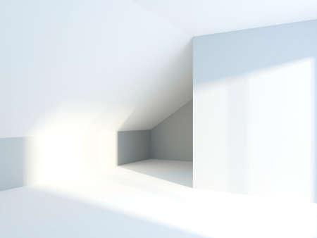 Abstraction empty room. Mansard Stock Photo - 9238316