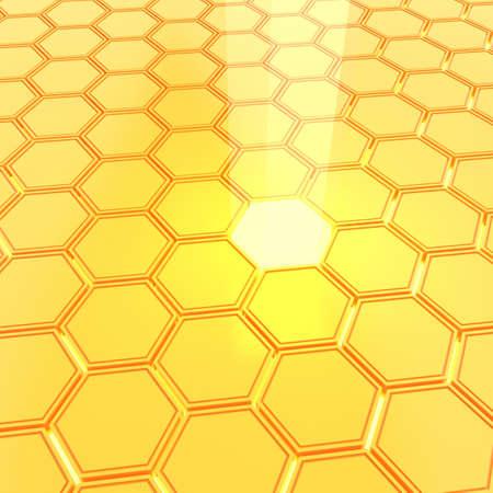 honeyed: Abstract golden honeycombs