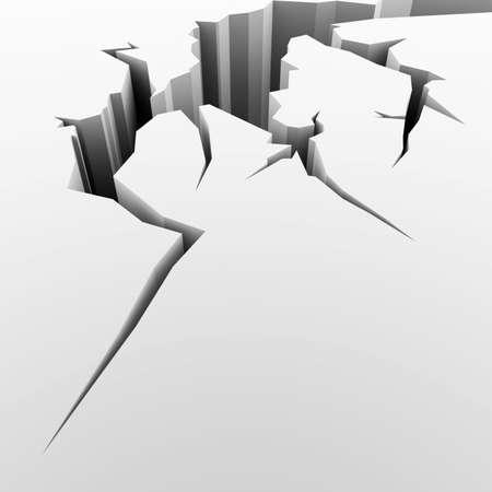 cleft: Illustration of a crack