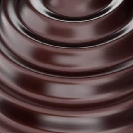 물결: 초콜릿 파. 3d 렌더링 그림