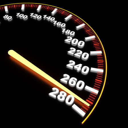 mile: Visualization of speedometer on high-rate