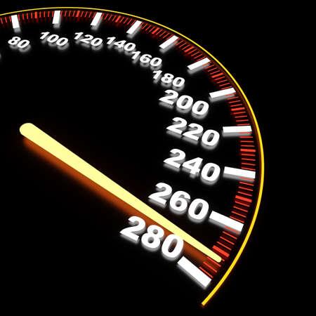 speedometer: Visualizzazione di tachimetro ad alta velocit�