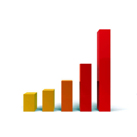 Coloured diagram of growth. 3d Stock Photo - 10718171
