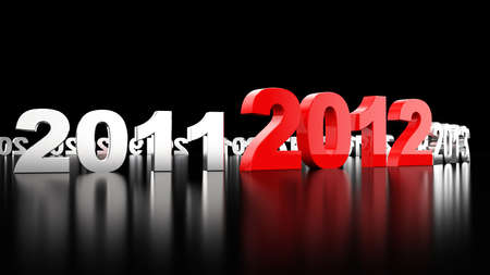 New Year 2012. 3d illustration Фото со стока