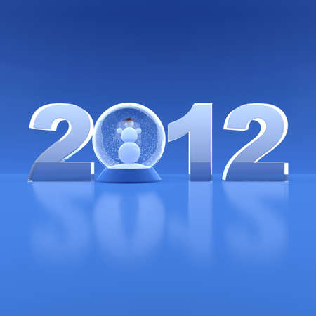 New Year 2012. 3d illustration illustration
