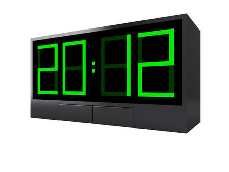New Year 2012 on clock. 3d concept photo