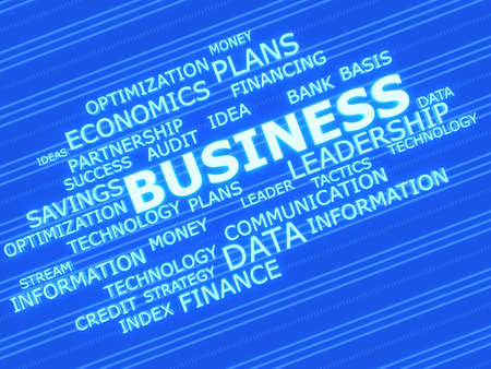 Business related words. 3d concept photo