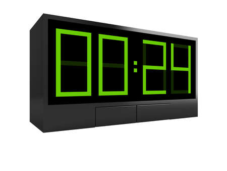 Electronic clock. Twenty four hours in days. Concept photo