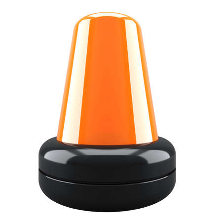 Orange flashing light. 3d render illustration illustration