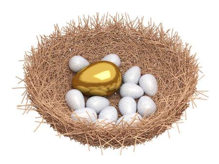 financial metaphor: Un huevo de oro se encuentra en un nido