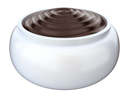 moisten: Cosmetic cream. 3d render isolated on white