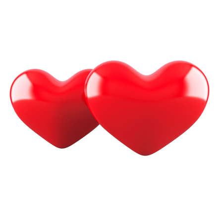 Two hearts. Isolated on white Stock Photo - 12020084