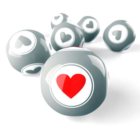 Heart. Love. Choice. Abstraction. 3d illustration Stock Illustration - 12033910