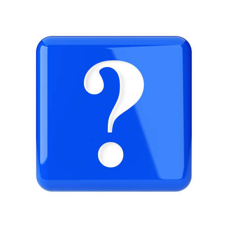 punctuation: Question sign  Icon on white